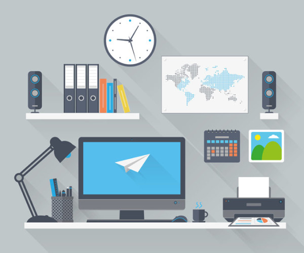 flat-vector-design-illustration-of-modern-business-office-and-workspace-600x500